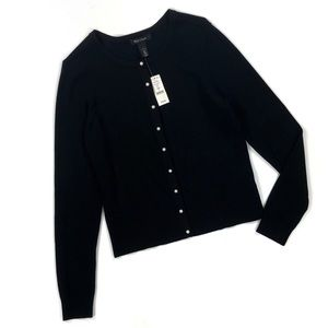White House Black Market Pearl Snap Cardigan